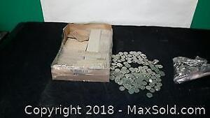 Loose Assortment of Nickels With Paper Coin Wraps