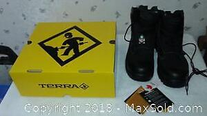 new terra work boots current bid from $17.00