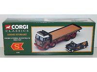 CORGI CLASSIC EDDIE STOBART FODEN 8 WHEEL RIGID TRUCK WITH MINI VAN