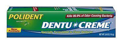 3 Pack - Polident Dentu-Creme Denture Toothpaste, 3.9 Oz Each