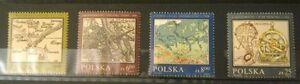POLAND STAMPS MNH Fi2696-99 Sc2550-53 Mi2844-47 - Polish cartography,1982,clean - <span itemprop=availableAtOrFrom>Reda, Polska</span> - POLAND STAMPS MNH Fi2696-99 Sc2550-53 Mi2844-47 - Polish cartography,1982,clean - Reda, Polska