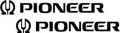 2 x Pioneer Logo  Stickers,Graphics,Decals Colour Choice