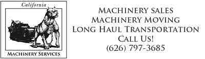 California Machinery Services