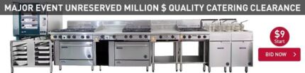 MAJOR EVENT UNRESERVED MILLION $ QUALITY CATERING CLEARANCE