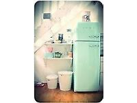 SMEG AQUA BLUE GREEN FRIDGE FREEZER PERFECT CONDTION