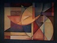 Wood Framed Canvas Print