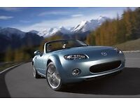 Mazda MX5 Niseko. 2008 Special Edition. Ice blue, brown leather upholstery.