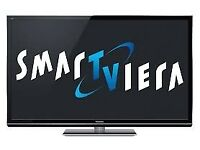 Panasonic GT50 plasma tv with blu-ray player and soundbar