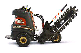 Ride on r300 ditch witch for rent