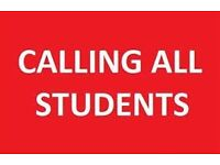 We are looking for students starting uni in Sept to join us on a part time basis!