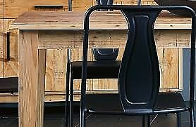 Pine Wood Dining Table With Six Chairs From Harvey Norman