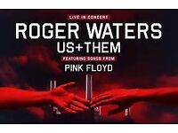 Roger Waters at Glasgow Hydro Saturday 30th June 2018 Block 5 row G Two tickets fro