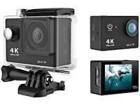 Eken h9 4k Action camera with accessories(app)
