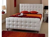 Double Bed - white chesterfield