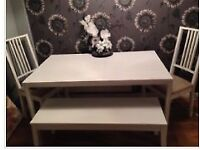 *reduced.. beautiful white dining table set.