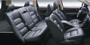 Blk leather seat
