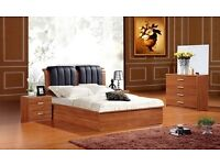 A Single/Double/Kingsize Wooden Ottoman Storage Bed Frame