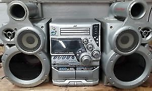 JVC GigaTube Sound System with 3-CD changer + remote