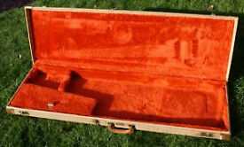 Rare 1982 50's Fender Jazz or Precision Tweed Bass Case / Duck Foot / Fullerton Factory