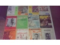 Vintage Musicals piano and vocal sheet music