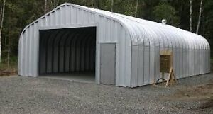 Must Sell! Steel Garage/Building w base plate foundation anchors