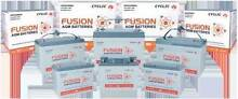 Fusion new car battery AGM Deep cycle 105ah 120ah Free Delivery Adelaide Region Preview