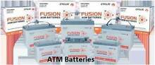 Fusion AGM Deep cycle 105ah 120ah Battery Batteries Free Delivery Adelaide CBD Adelaide City Preview