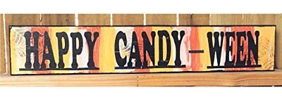 AG Designs Halloween Decor - Long Mantle Sign Happy Candy-Ween #82415