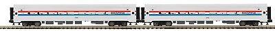 - MTH 20-66286 AMFLEET 2 CAR PREMIER PASSENGER SET O GAUGE 3 RAIL, PHASE III