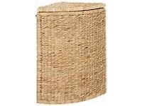 corner sea grass laundry basket fully lined