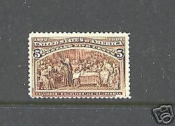 234  Mint  NH       catalog  $180.00