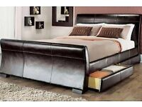Venice black bed frame and mattress