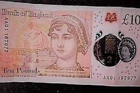 New £10 note - low serial number