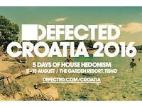 3 x Defected Festival Tickets - CROATIA with accomodation!!