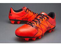 Adidas UK Online/Adidas X 15.4 Firm Ground Football Shoes Orange Men Size UK6