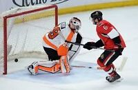 Philadelphia Flyers @ Ottawa Senators Hockey - 2 tickets - Dec 1