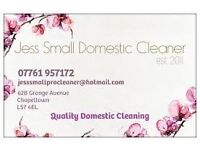 Domestic Cleaning in Chapel Allerton est 2011