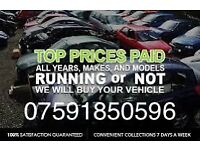 We want your vehicle car van 4x4 any make model running or not cashpaid uplift scrap recycle dispose