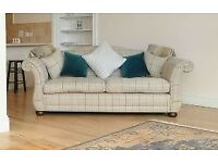 Laura Ashley sofa with cushions for sale