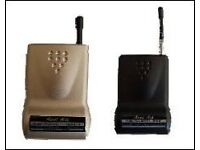 Audio-1X T1-863 Aural Aide Audio Transmitter and 4 X Receivers.