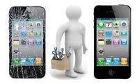 Reparation iPhone 4, 5 et 6 - Ecran LCD , vitre, batterie