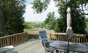 Lake Huron Beach View Cottage Rental - Dunegrass Port Franks Ont
