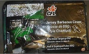 Saskatchewan Roughriders Deluxe Jersey Style Barbeque Cover (New) Calgary Alberta Preview