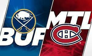 (2X2) BILLET TICKET CANADIENS BUFFALO  CENTER 302A 303A GRIS