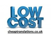 CHEAP translation. Freelance translators. French German Italian Spanish Polish Russian Chinese +more