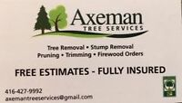 TREE REMOVAL, TRIMMING, PRUNE, STUMP GRINDING