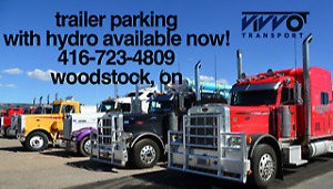 PARKING - Secured Parking - Trucks + Trailers + Other