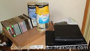 """2 DVD Players, Blank CDs and DVDs Pick up in Time-slot """"B"""""""