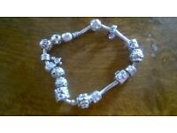 pandora braclet with 15 charms