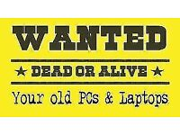 COMPUTERS & LAPTOPS WANTED WORKING OR NON WORKING FREE COLLECTION LOCALLY CALL NOW
